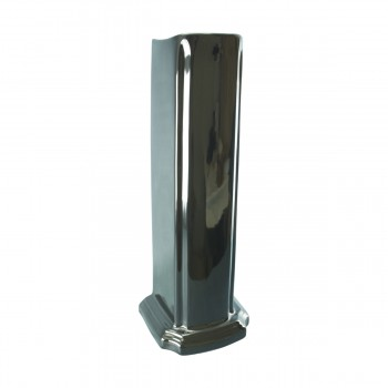 Pedestal - Black Vitreous China Pedestal by the Renovator's Supply