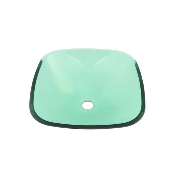 <PRE>Tempered Glass Sink with Drain, Single Layer Green Square Bowl Sink</PRE>zoom4