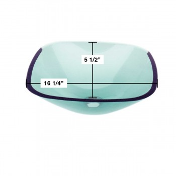 spec-<PRE>Tempered Glass Sink with Drain, Single Layer Green Square Bowl Sink</PRE>