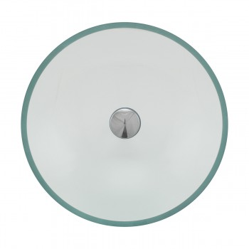 <PRE>Clear Tempered Glass Vessel Sink Round Bowl Stain Resistant Chrome Pop-Up Drain</PRE>zoom7