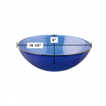 spec-<PRE>Tempered Glass Sink with Drain Frosted Blue Icicle Glass Bowl Sink Textured </PRE>