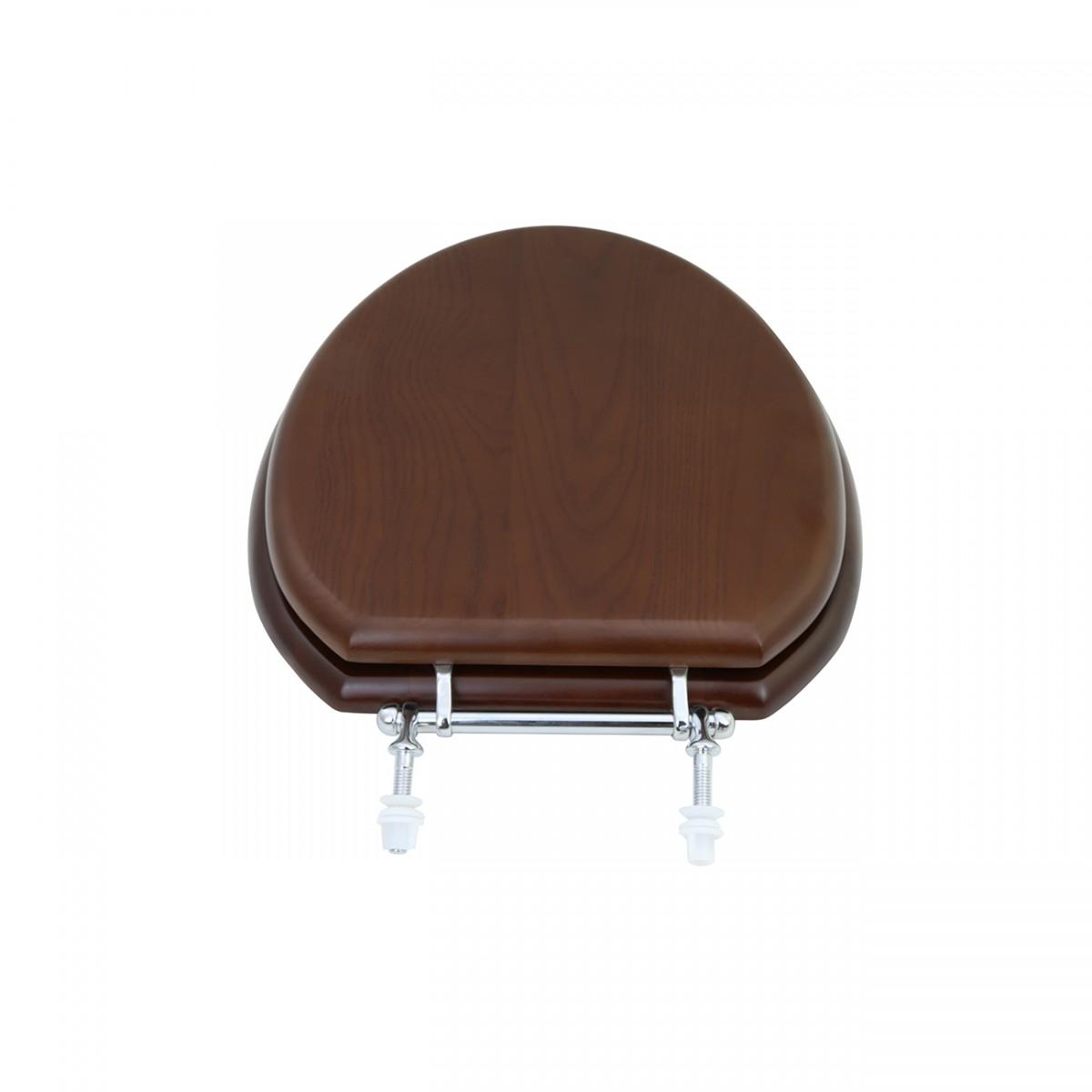Elongated Toilet Seat Solid Wood Dark Oak Chrome Hinge toilet seat wooden toilet seat elongated toilet seat