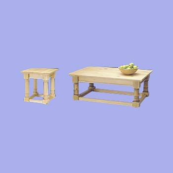 <PRE>Coffee and End Table Country Pine Set </PRE>