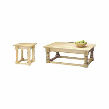 Classic Country Pine End Table & Coffee Table