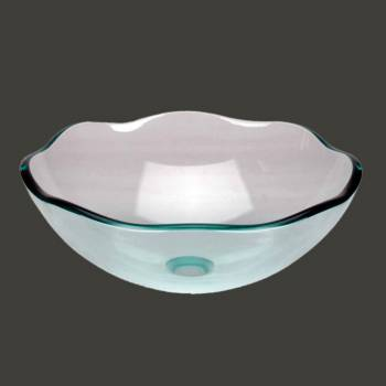 Glass Vessel Sink Light Green 8 Petal - Glass sinks, Glass sink info & unique Glass accessories, quantity discounts on Glass sinks, Glass pedestal sinks, Glass wall mount sinks, Glass console sinks, counter top Glass sinks, Glass counter top sinks, Glass pedestal sinks, bathroom fixtures, Glass bathroom sinks, sink faucets & free shipping by Renovator's Supply.
