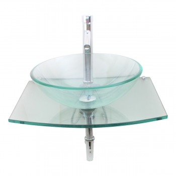 <PRE>Unique Clear Durable Wall Mount Tempered Glass Vessel Sink</PRE>zoom5