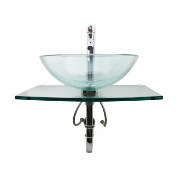 <PRE>Unique Clear Durable Wall Mount Tempered Glass Vessel Sink</PRE>zoom7