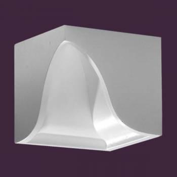 <PRE>Crown Molding Corner Block Divider White Urethane 4inch </PRE>zoom2