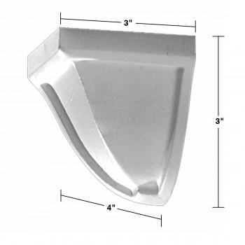 spec-<PRE>Crown Molding Corner Block Divider White Urethane 3&quot; </PRE>