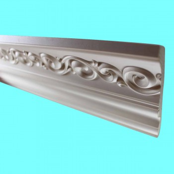 <PRE>Cornice White Urethane Sample of 10978 23.5inch Long </PRE>zoom7