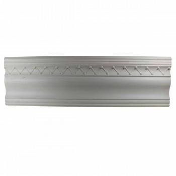 Ornate White 4.25 inch Urethane Foam Cornice Amelie 10983grid