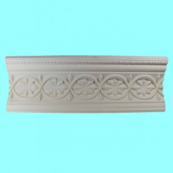 <PRE>Ornate Cornice White Urethane 4 1/2inchH Chantelle </PRE>zoom2