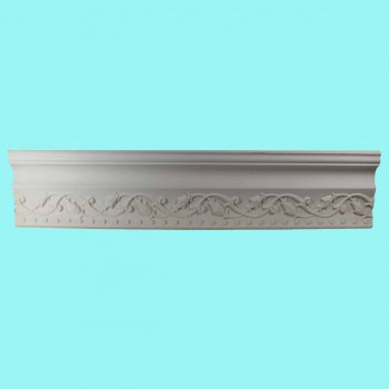 <PRE>Ornate Cornice White Urethane 3 1/2inchH Violetta </PRE>zoom2