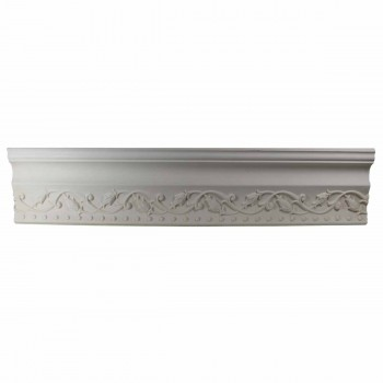 Ornate Cornice White Urethane 3 1/2