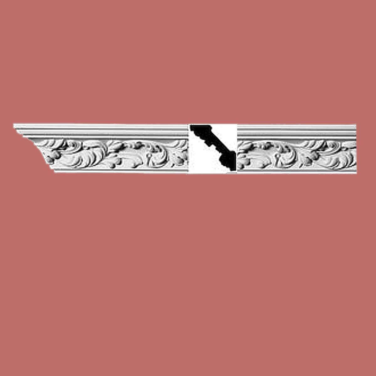 Cornice White Urethane Sample of 10997 23.5 Long Cornice Cornice Moulding Cornice Molding