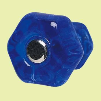 Cabinet Knob Blue Glass 1 Dia W Chrome Screw Cabinet Hardware Cabinet Knobs Cabinet Knob