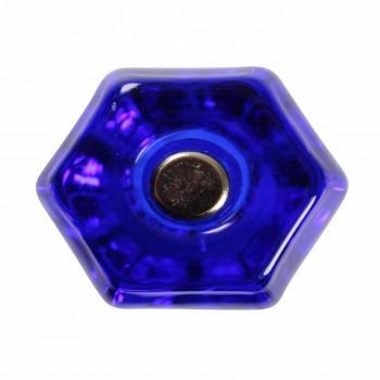 <PRE>Cabinet Knob Blue Glass 1 1/4inch Dia W/ Chrome Screw </PRE>zoom3