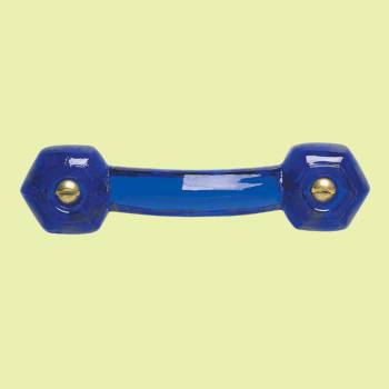 <PRE>Cobalt Glass Drawer Pull Cabinet Handle 3inch Boring  </PRE>zoom2