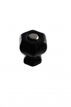 Cabinet Knob Black Glass 1