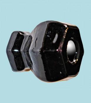<PRE>Cabinet Knob Black Glass 1 1/4&quot; Dia </PRE>