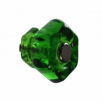 Cabinet Knob Forest Green Glass 1