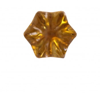 <PRE>Cabinet Knob Clear Glass 1&quot; Dia Brass Shank </PRE>