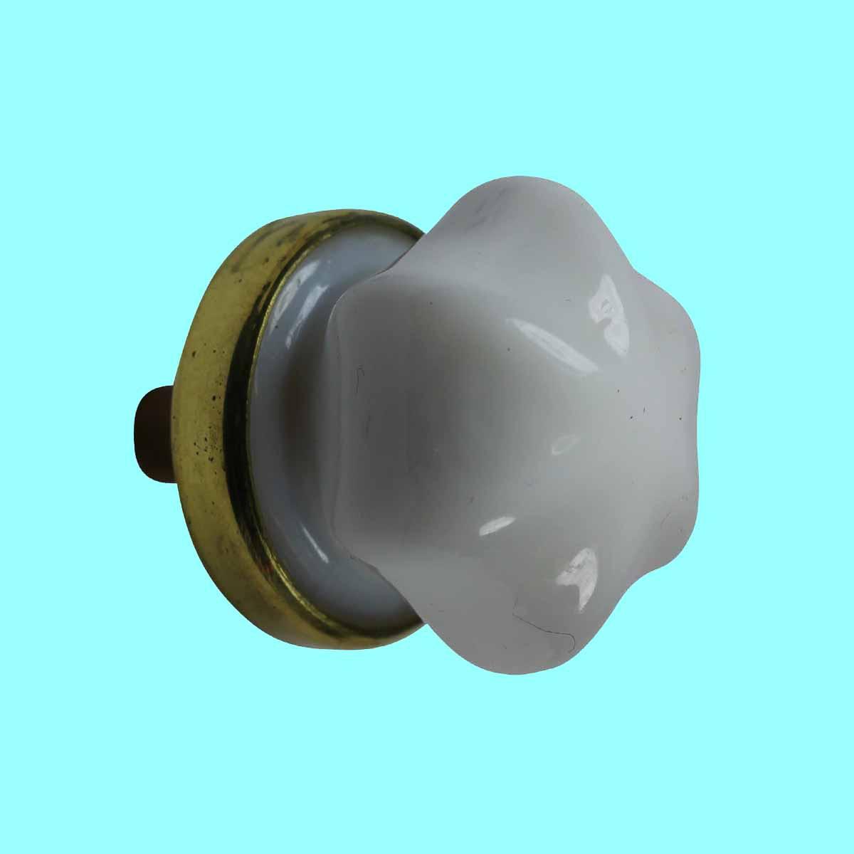 ... U003cPREu003eCabinet Knob Milk Glass 1inch Dia W/ Brass Back U003c/ ...
