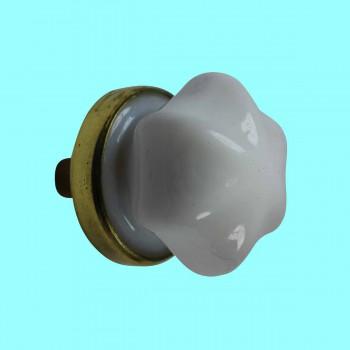 <PRE>Cabinet Knob Milk Glass 1inch Dia W/ Brass Back </PRE>zoom2