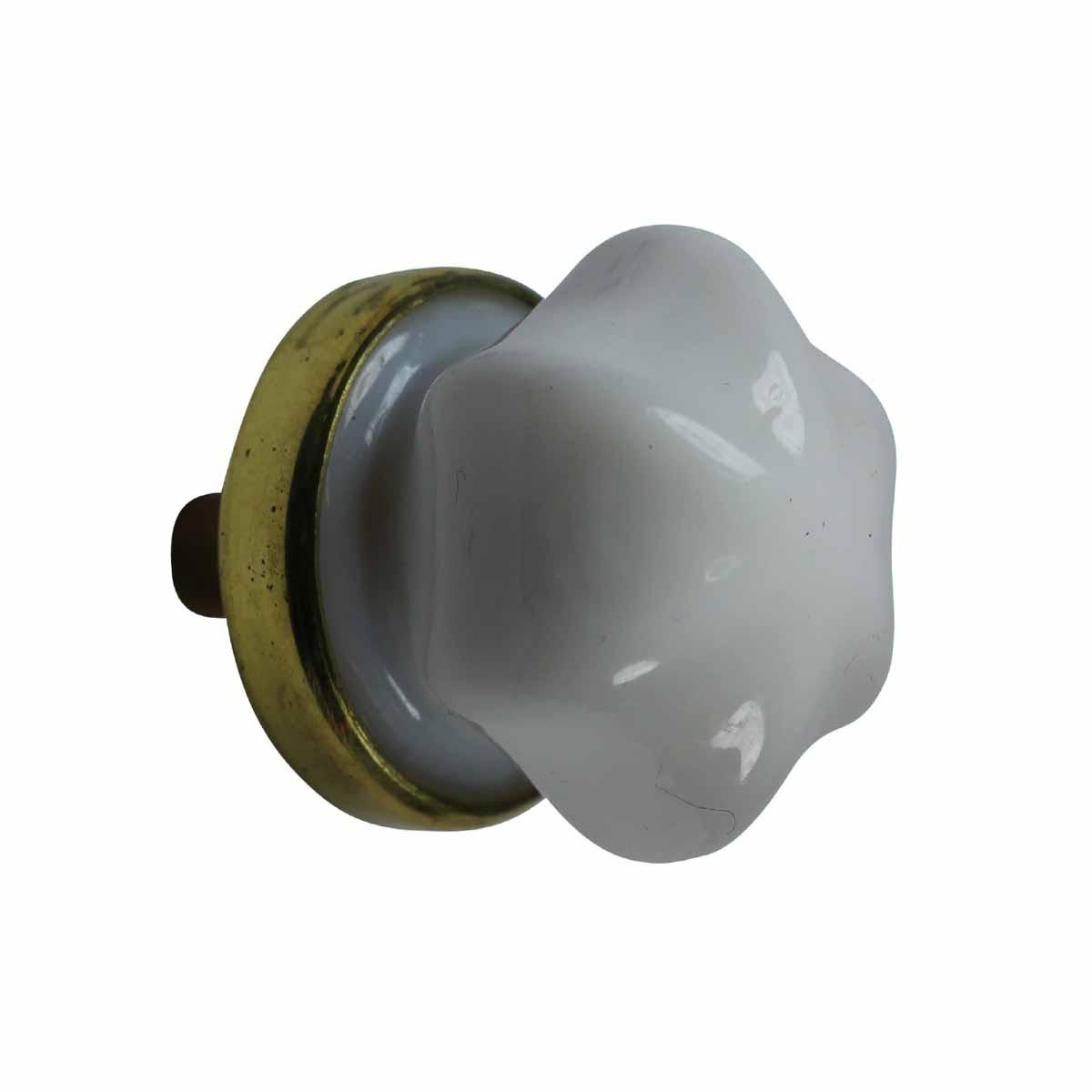 cabinet knob milk glass 1 dia w brass back rh rensup com