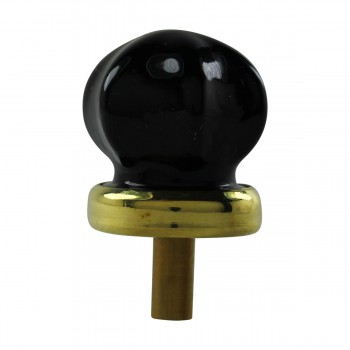 Cabinet Knob Black Glass 1 Dia W Brass Back Modern Kitchen Cabinet Knob Brass Shank Unique Glass Cabinet and Drawer Knobs Round Black Cabinet Knob Brass Back