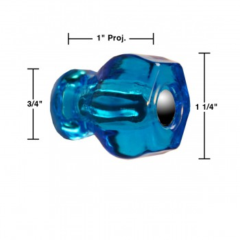 spec-<PRE>Cabinet Knob Peacock Glass 1 1/4&quot; Dia </PRE>