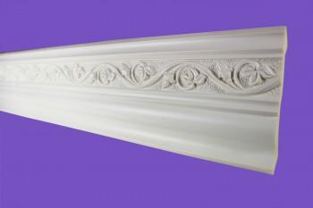 Ornate Cornice White Urethane Lunetta  96 L Cornice Cornice Moulding Cornice Molding