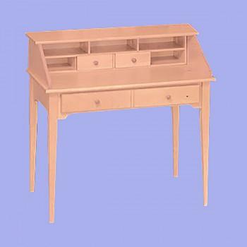 <PRE>Office Desks UnFined Solid Pine Classic Secretary Desk 40'' W</PRE>