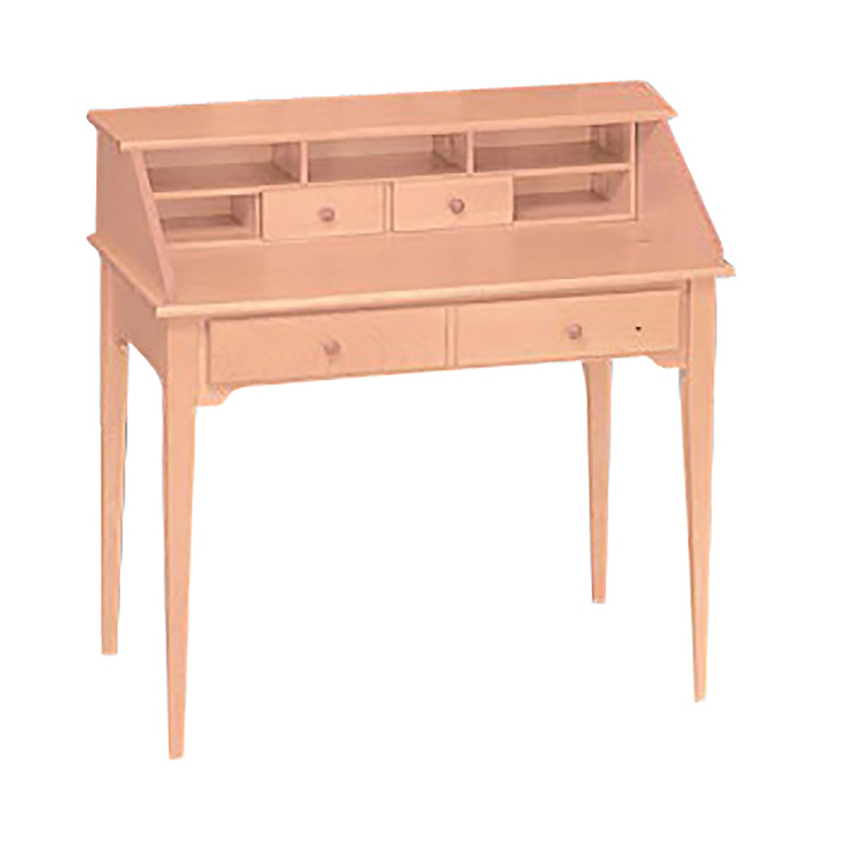Classic Unfinished Solid Pine Classic Secretary Desk Natural Pine 40 I