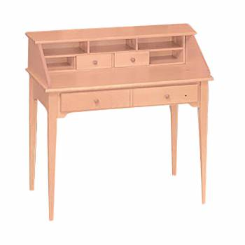 Classic Unfinished Solid Pine Classic Secretary Desk Natural Pine 40 i111711grid