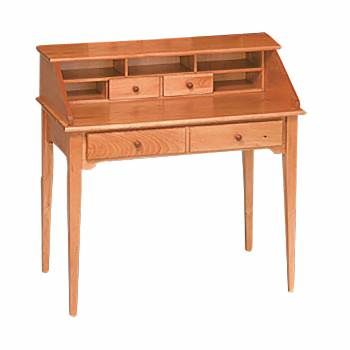 Classic Honey Solid Pine Classic Secretary Desk Honey Pine 40 in. W Ma111714grid