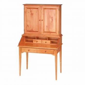 Classic Heirloom Solid Pine Classic Secretary Desk Heirloom Pine 40 in111715grid
