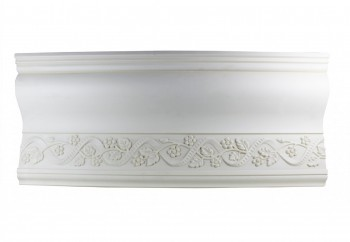White Urethane Foam Ornate Camberley Cornice 11186grid