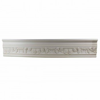 Ornate Cornice White Urethane 2 1/4