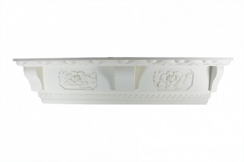 "Cornice White Urethane Glastonbury Ornate 7 1/8"" H 11191grid"