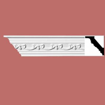 "spec-<PRE>Ornate Cornice White Urethane  94"" L  </PRE>"