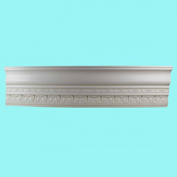 "<PRE>Cornice White Urethane Kingsbridge Ornate 41/8"" H </PRE>"