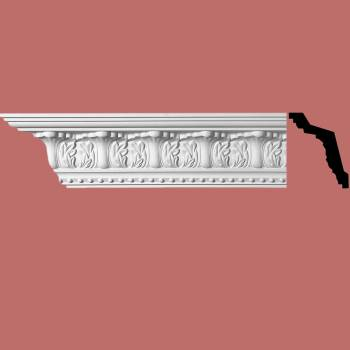 "<PRE>Cornice White Urethane Maidenhead Ornate 5"" H </PRE>zoom2"