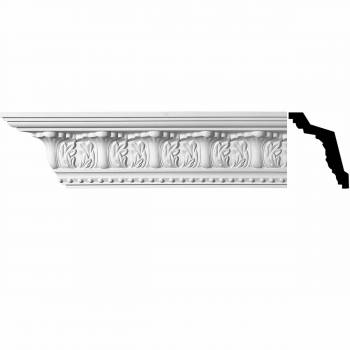 "<PRE>Cornice White Urethane Maidenhead Ornate 5"" H </PRE>zoom1"