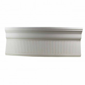 Ornate Cornice White Urethane 4 1/2