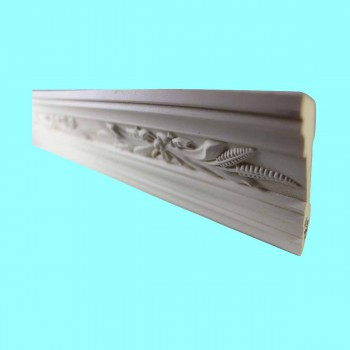 spec-<PRE>Ornate Cornice White Urethane 3 1/8&quot; H Wednesbury </PRE>
