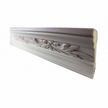 <PRE>Ornate Cornice White Urethane 3 1/8&quot; H Wednesbury </PRE>