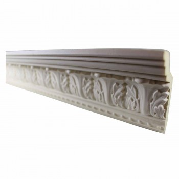 Ornate Cornice White Urethane Haverford 3 1/4