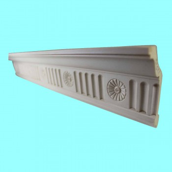 <PRE>Ornate Cornice White Urethane 4 1/4&quot; H </PRE>