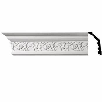 Ornate Cornice White Urethane 5 1/2